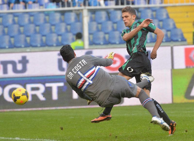 Sampdoria kontra Sassuolo.