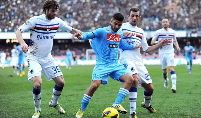Napoli kontra Sampdoria.