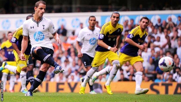 Tottenham kontra Swansea.