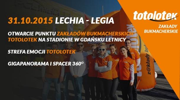 Atrakcje od Totolotka na najbliższy mecz Lechii z Legią