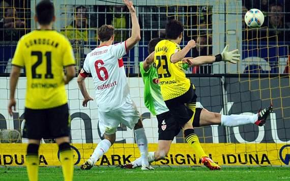 Stuttgart kontra Dortmund.