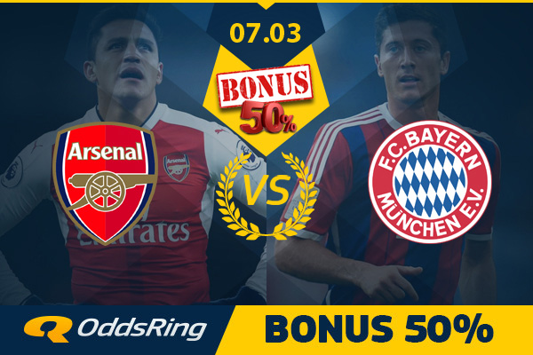 50 PLN zwrotu na Arsenal – Bayern