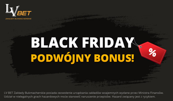 Darmowe 40 PLN od LV BET na Black Friday!