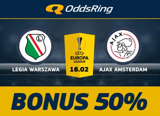 Zwrot 50% stawki na Legia – Ajax!